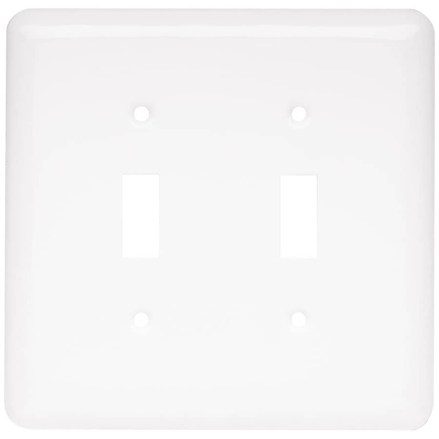 Style Selections 2-Gang White Double Toggle Wall Plate