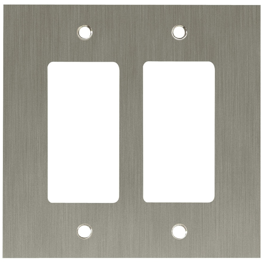 Brainerd 2-Gang Brushed Nickel Plated Decorator Wall Plate
