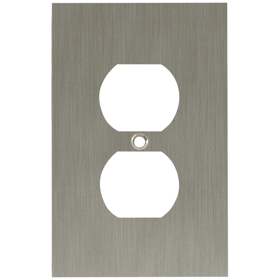 Brainerd 1-Gang Brushed Nickel Plated Round Wall Plate
