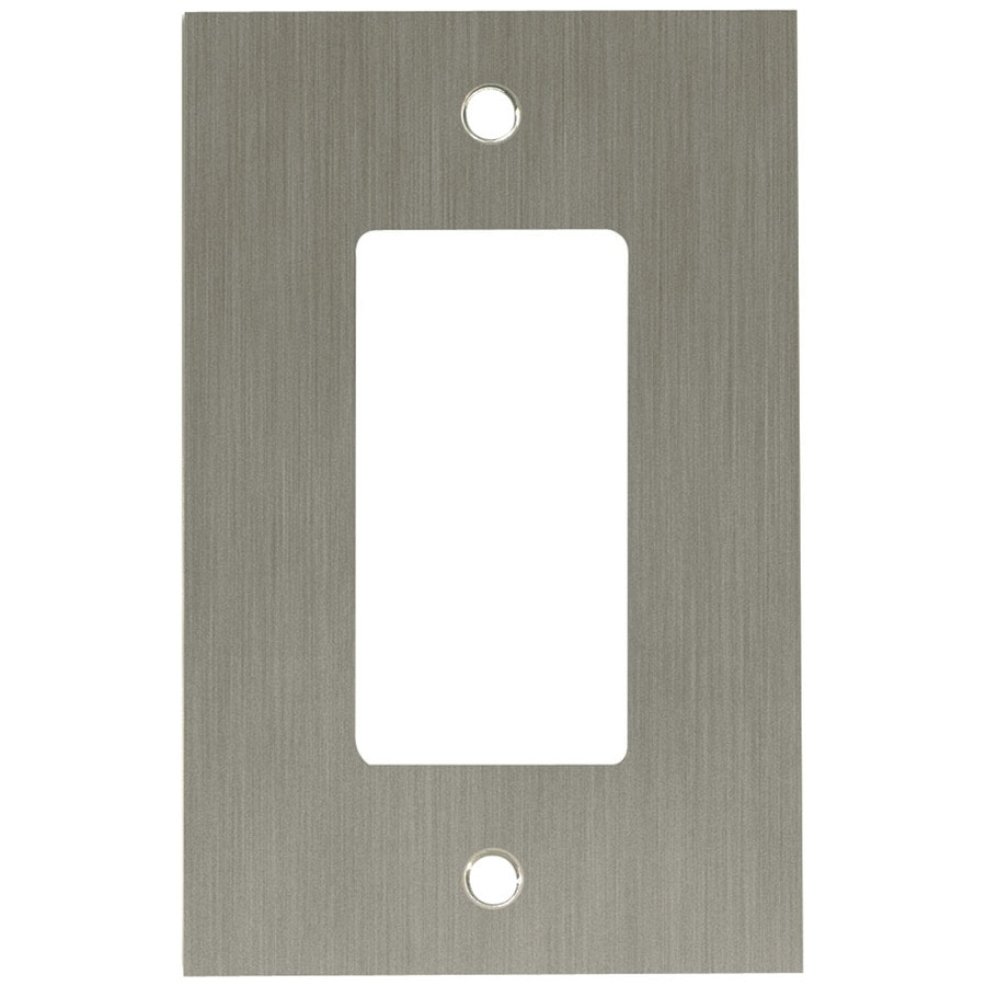Brainerd 1-Gang Brushed Nickel Plated Decorator Wall Plate