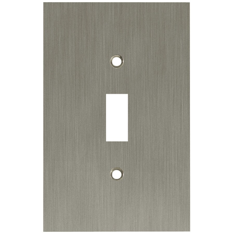Brainerd 1-Gang Brushed Nickel Plated Toggle Wall Plate