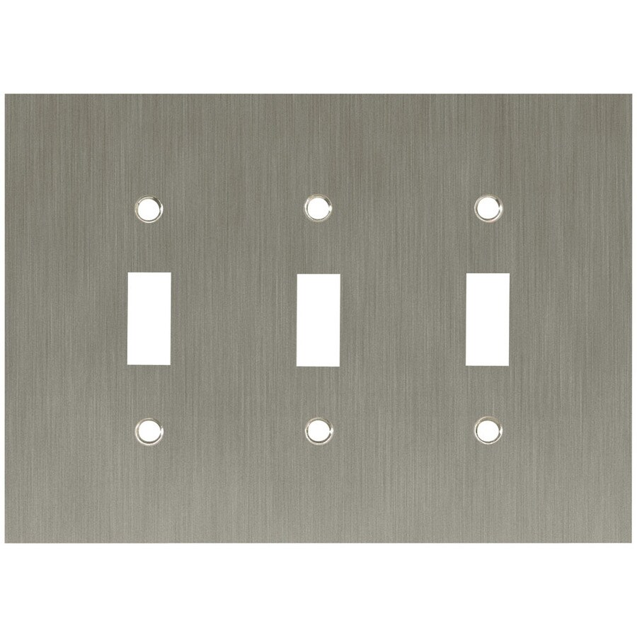 Brainerd 3-Gang Brushed Nickel Plated Toggle Wall Plate