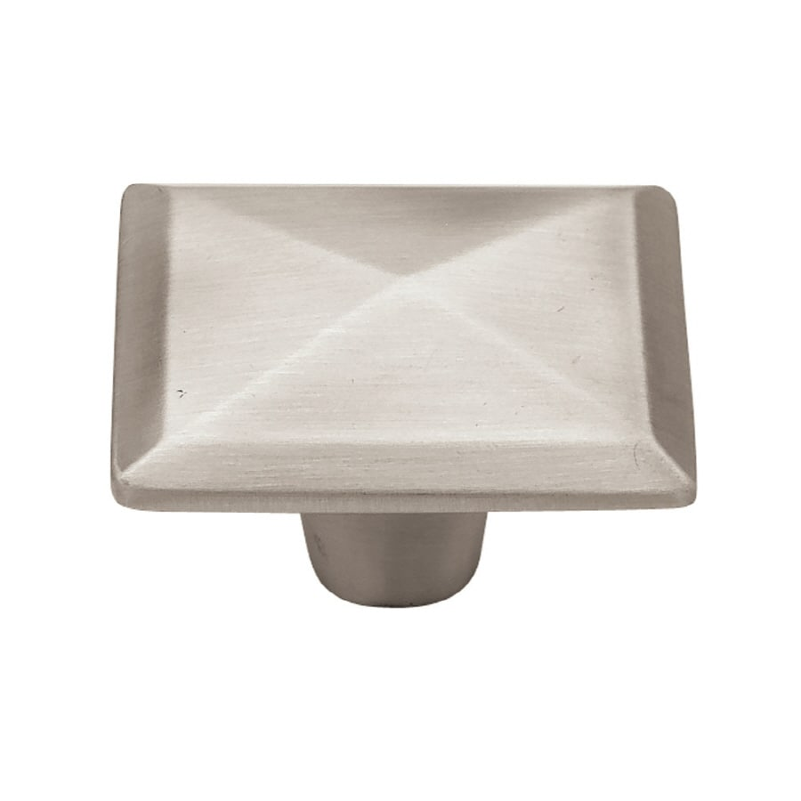 Brainerd Brushed-Satin Pewter Square Cabinet Knob