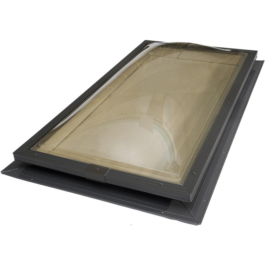 Sun-Tek 22.5 x 46.5 Sun-Tek Fixed Self Flashing Deck Mount Skylight with Bronze Polycarbonate Double Dome