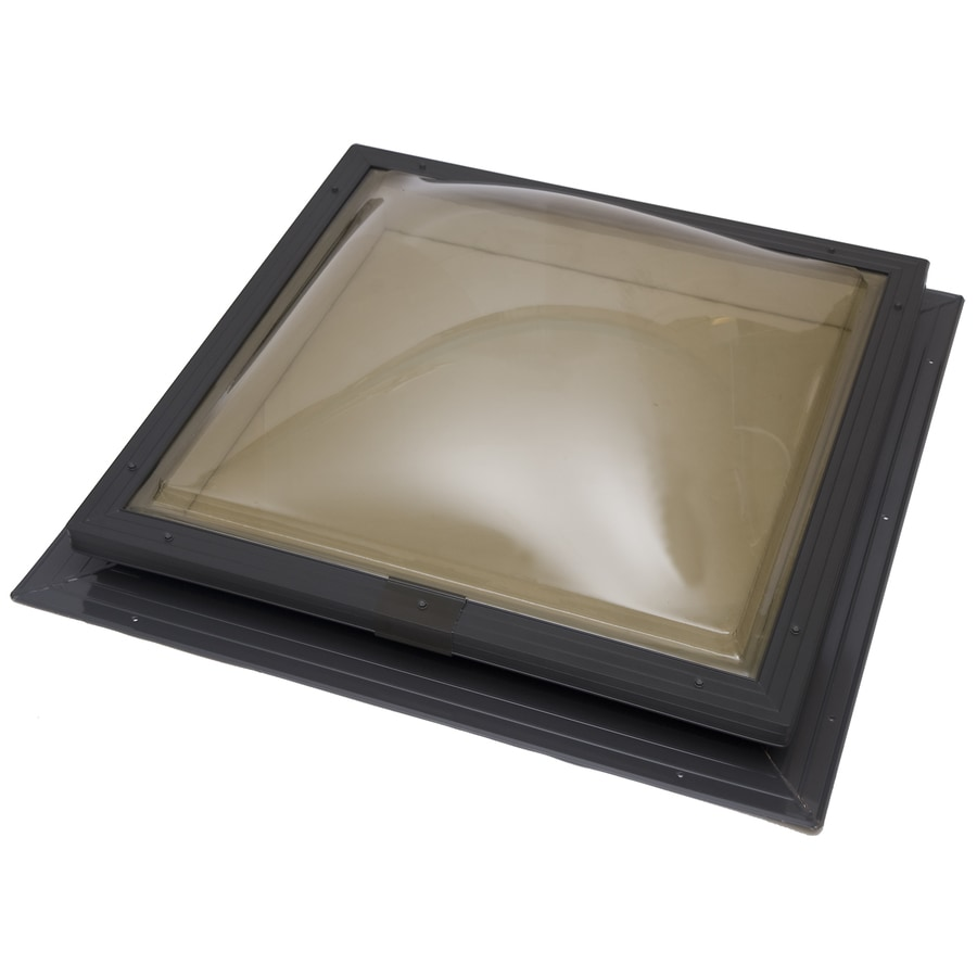 Sun-Tek 22.5 x 22.5 Sun-Tek Fixed Self Flashing Deck Mount Skylight with Bronze Polycarbonate Double Dome