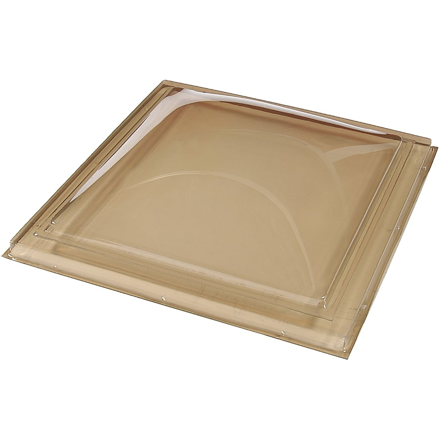 Sun-Tek 22.5 x 22.5 Sun-Tek Fixed Curb Mount Skylight with Bronze over Clear Polycarbonate Double Dome