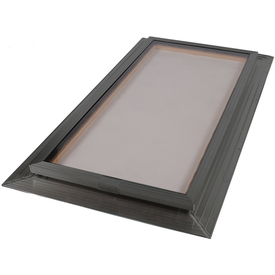 Sun-Tek 22.5 x 46.5 Sun-Tek Fixed Self Flashing Deck Mount Skylight with Bronze over Clear Double Dome