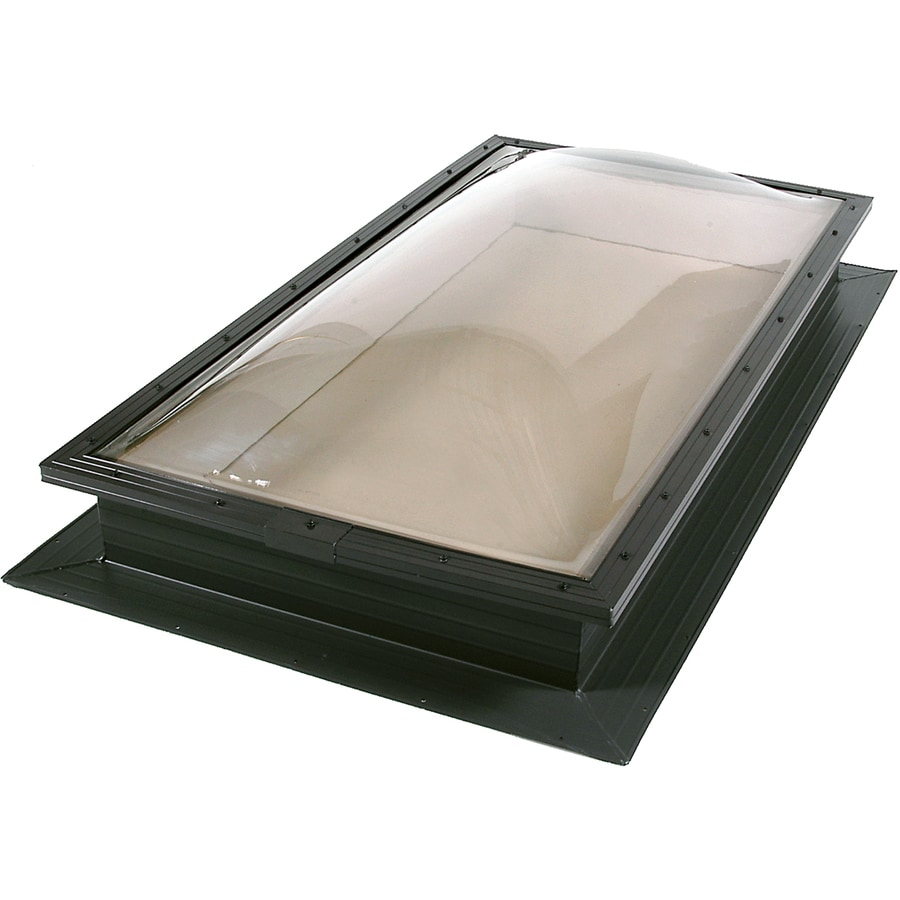 Sun-Tek 22.5 x 46.5 Sun-Tek Fixed Self Flashing Deck Mount Skylight with Impact Resistant Bronze over Clear Polycarbonate Double Dome