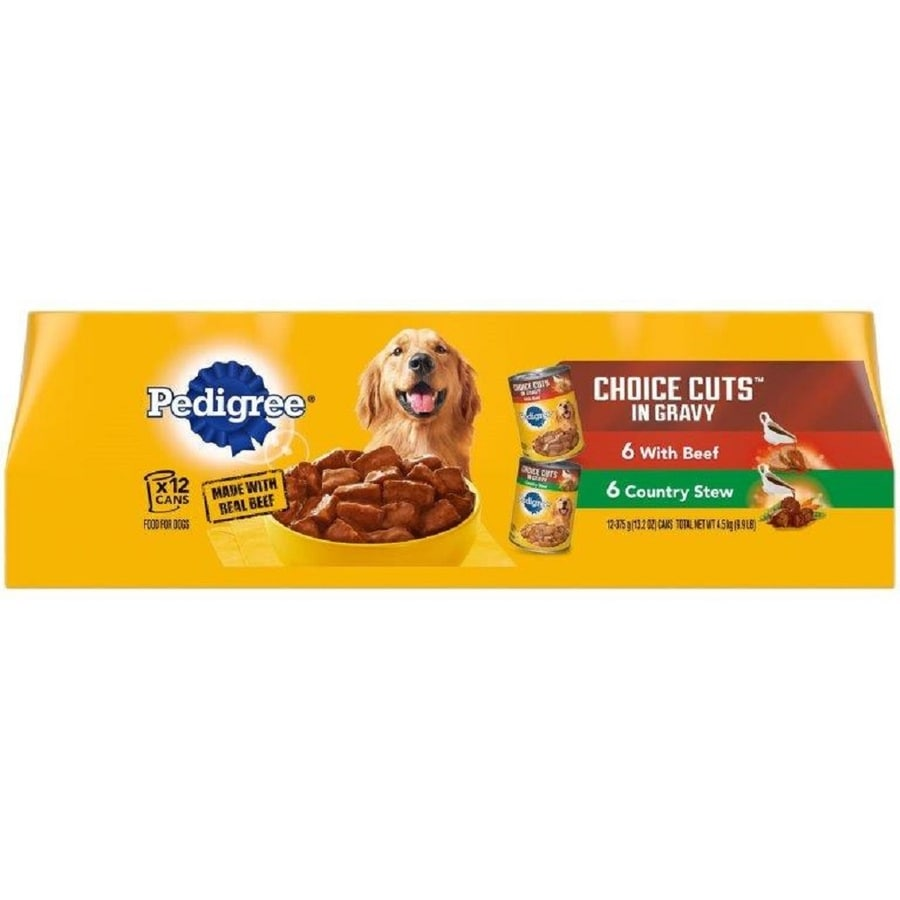 Pedigree 12-Pack 13.2-oz Beef and Country Stew Adult Dog Food Variety Pack