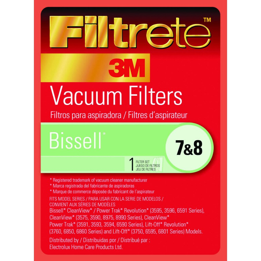 3M 2-Pack Vacuum Filter for Upright Vacuums