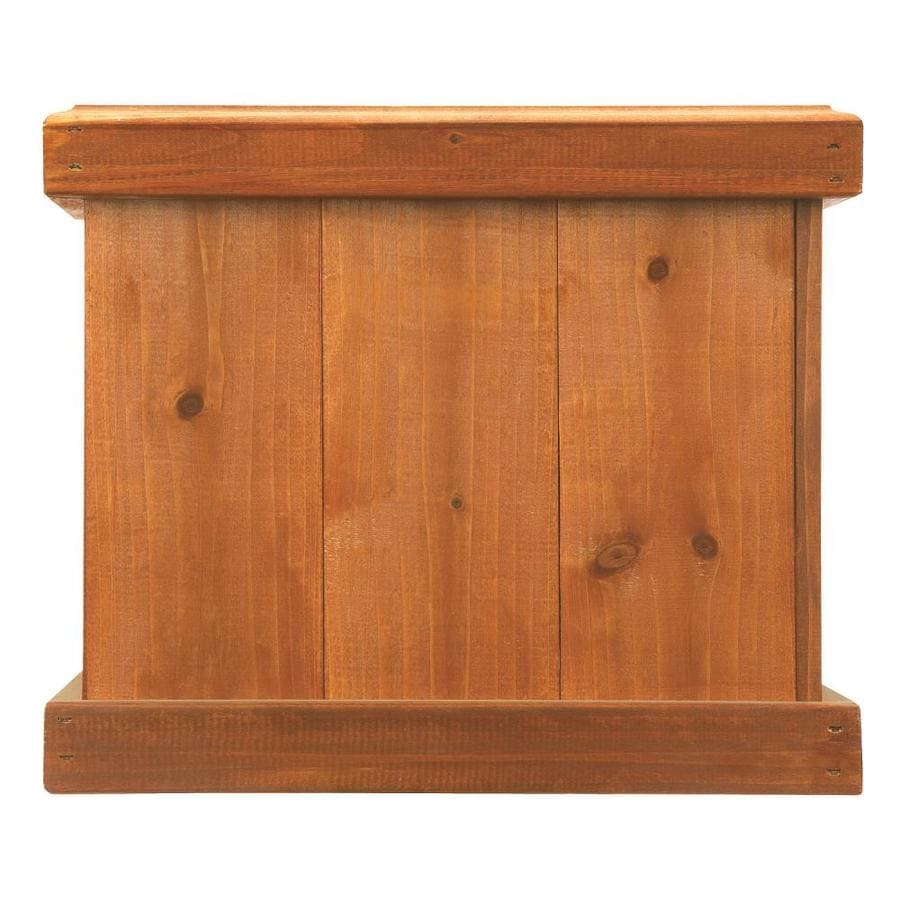 Matthews Four Seasons 14 In W X 12 In H Brown Wood Rustic Planter