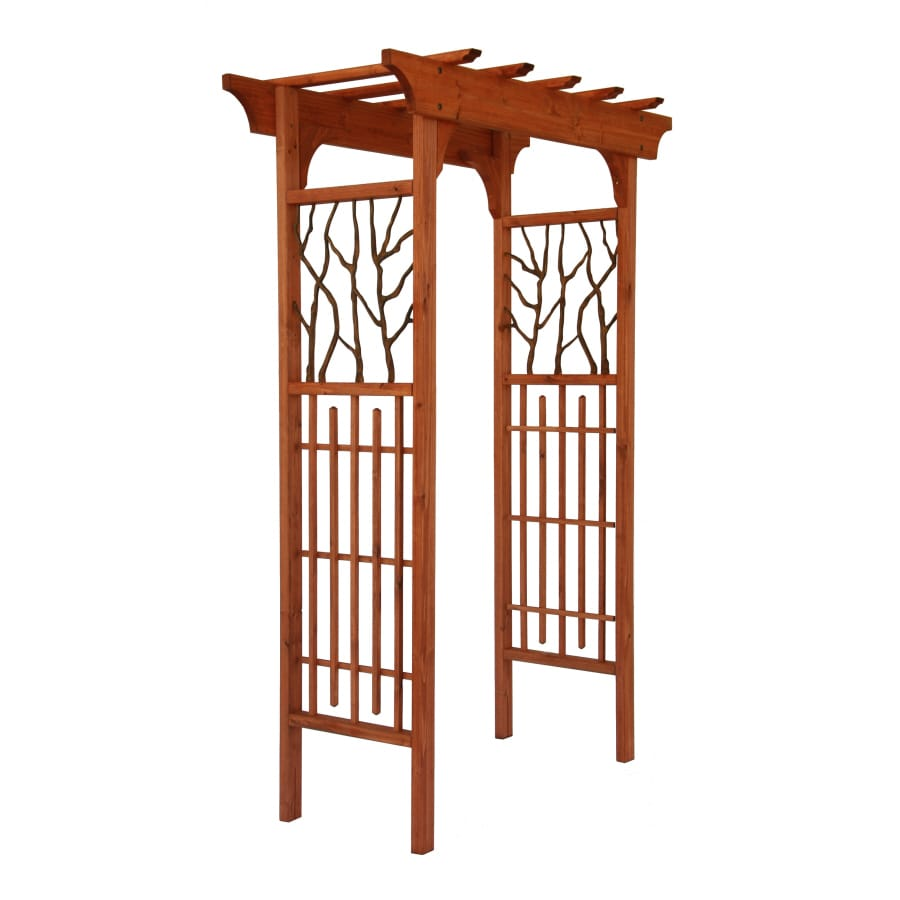 Matthews Four Seasons Hickory Wood/Metal Arbor Heartwood Arbor