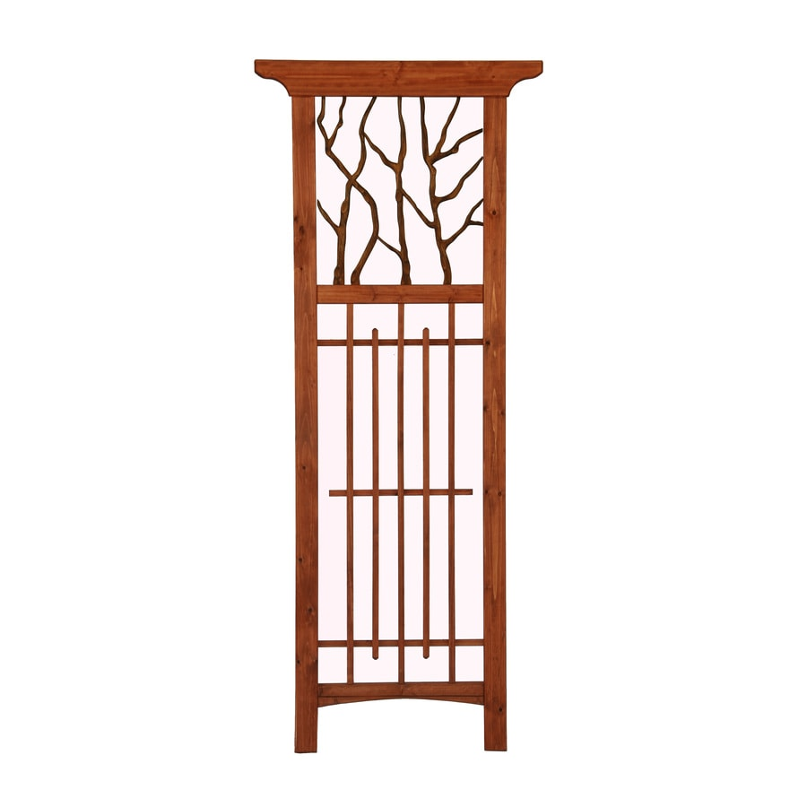 Matthews Four Seasons Hickory Wood/Metal Trellis