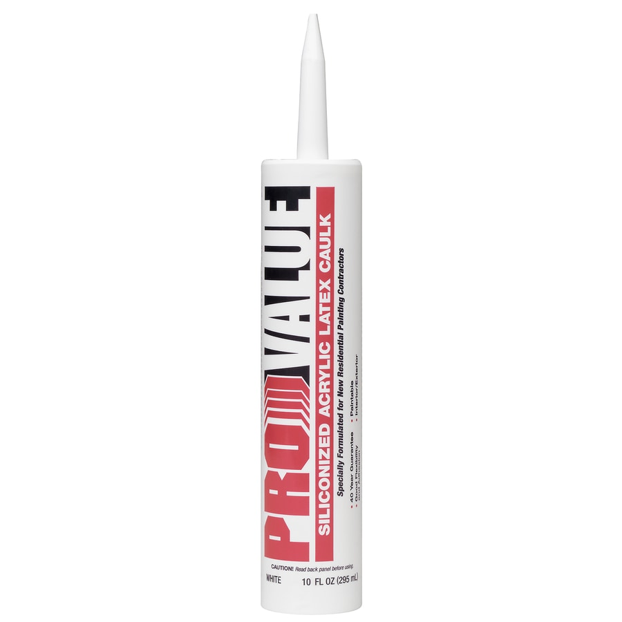 White Lightning Pro Value 10-fl oz White Paintable Siliconized Acrylic Window and Door Caulk