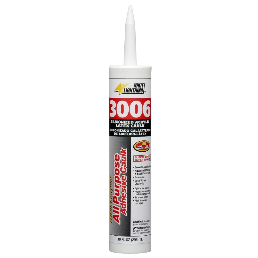 White Lightning 10-oz White Paintable Latex Window and Door Caulk