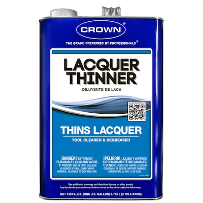 Crown 128-fl oz Fast to Dissolve Lacquer Thinner at Lowes com