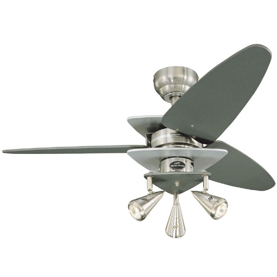 Shop Harbor Breeze 42 In Vector Brushed Nickel Ceiling Fan