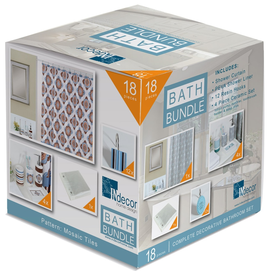 INdecor home design Mythology Pattern Platinum Ceramic Bathroom Coordinate Set
