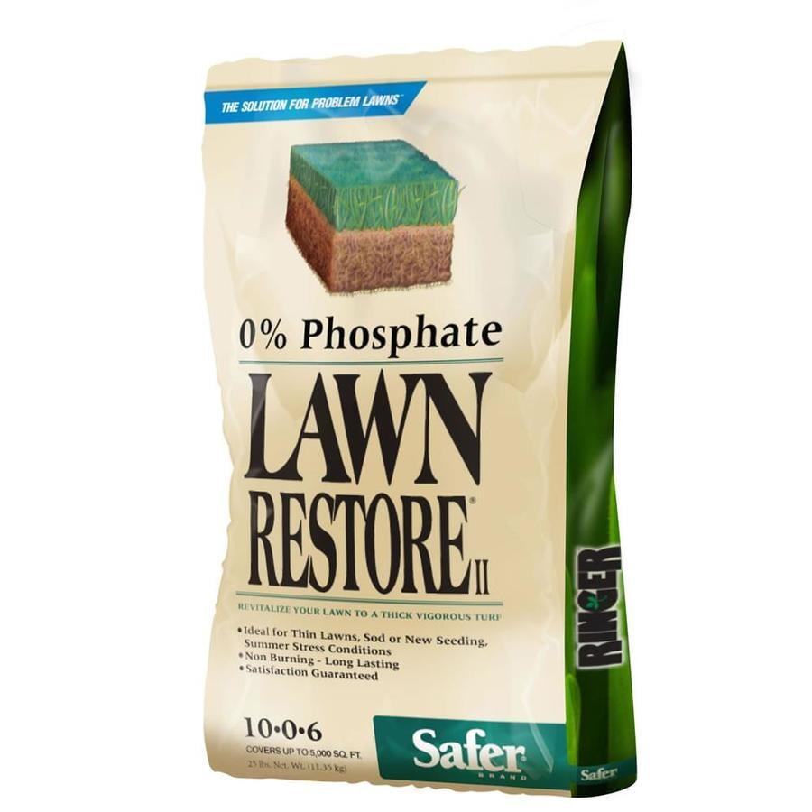 Safer Brand 25-lb 5000-sq ft 10-0-6  Lawn Fertilizer