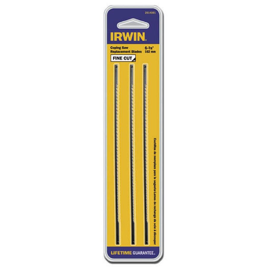 Shop irwin 3 pack coping saw replacement blades at lowes irwin 3 pack coping saw replacement blades greentooth Gallery