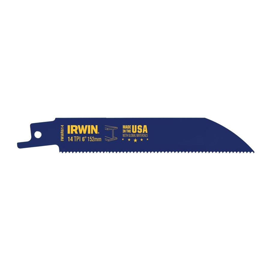 IRWIN 6-in 14-TPI Bi-Metal Reciprocating Saw Blade