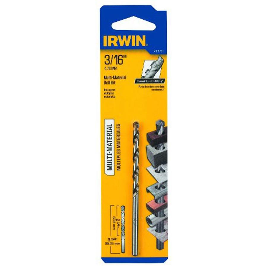 IRWIN 3/16-in x 3-3/4-in Round Rotary Drill Bit