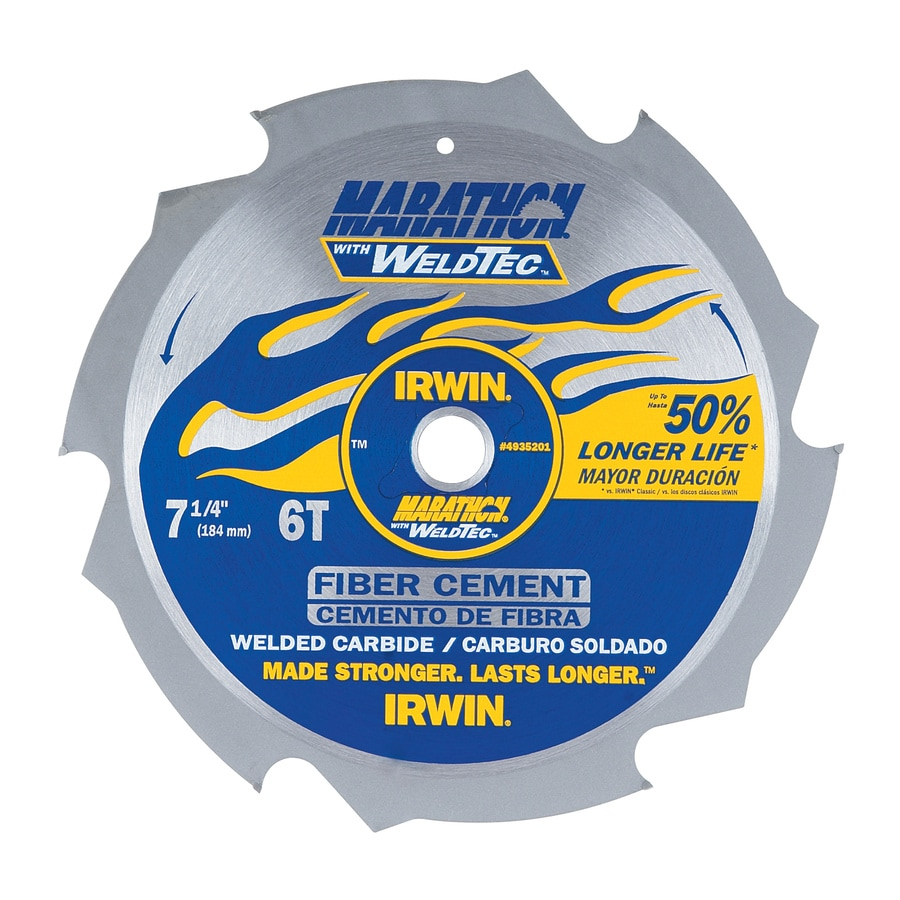 IRWIN 7-1/4-in 6-Tooth Dry Standard Tooth Carbide Circular Saw Blade