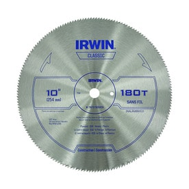 IRWIN Classic 10-in 180-Tooth High-Speed Steel Circular Saw Blade