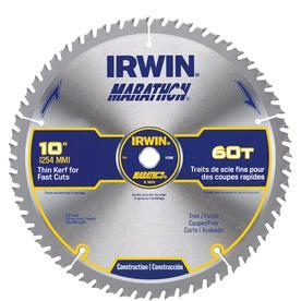 Irwin Marathon 10 in. Dia. x 5/8 in. Carbide Miter and Table Saw Blade 60 teeth 1 pk