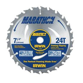 IRWIN Marathon 7-1/4-in 24-Tooth Segmented Carbide Circular Saw Blade