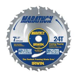 IRWIN Marathon 7-1/4-in 24-Tooth Segmented Carbide Circular Saw Blade