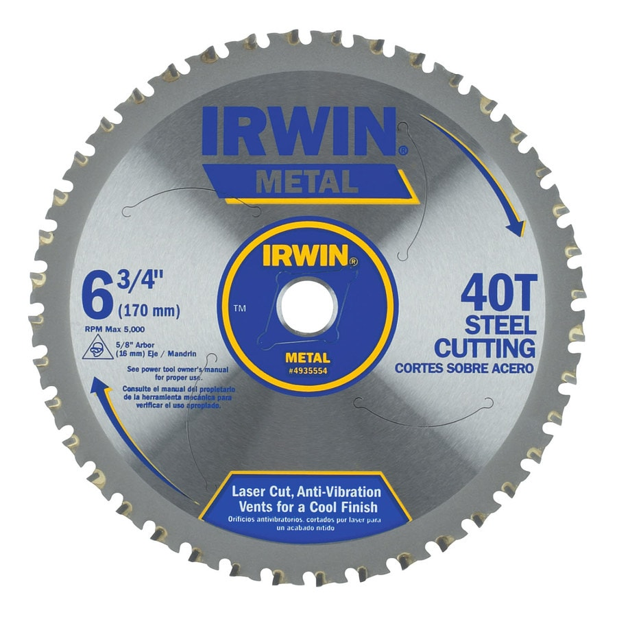 IRWIN 6-3/4-in 40-Tooth Standard Tooth Carbide Circular Saw Blade