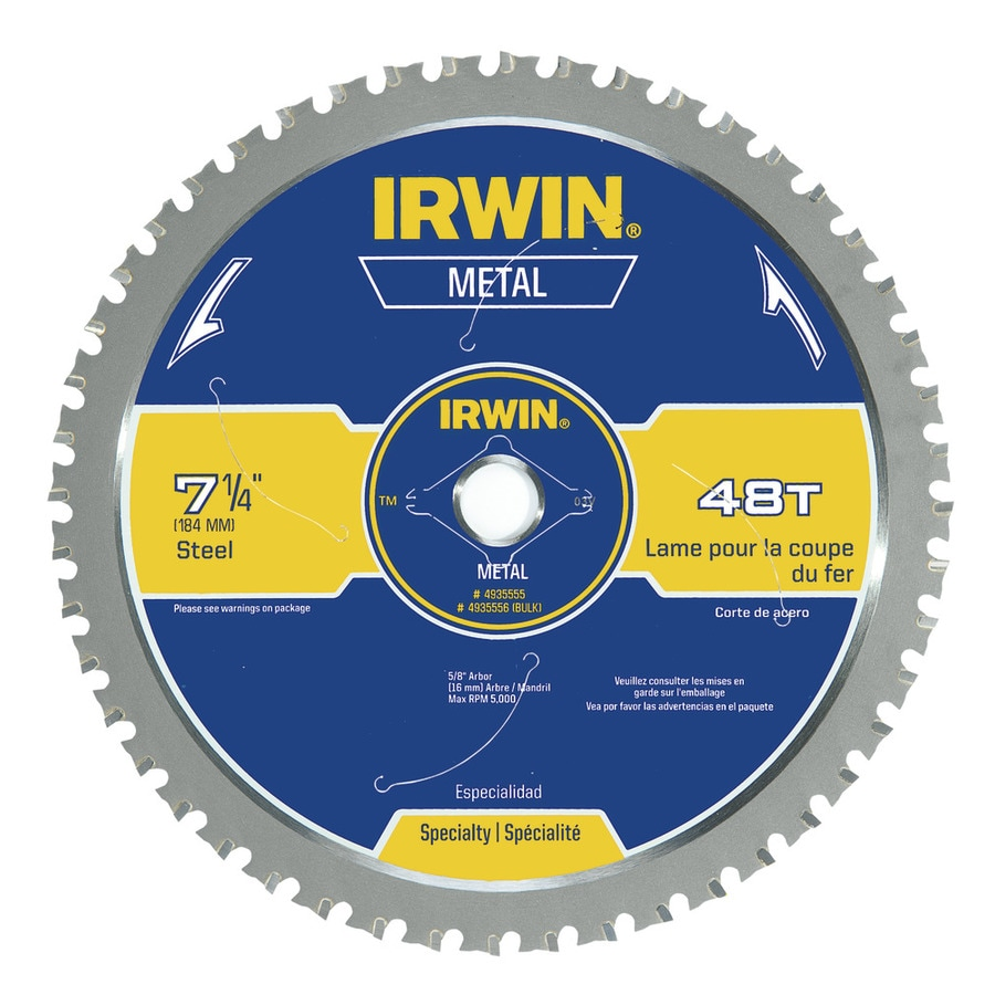 IRWIN 7-1/4-in 48-Tooth Standard Tooth Carbide Circular Saw Blade