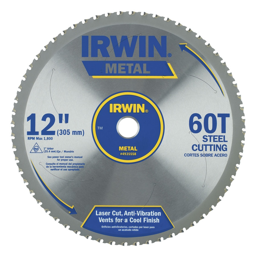 IRWIN 12-in 60-Tooth Segmented Carbide Circular Saw Blade