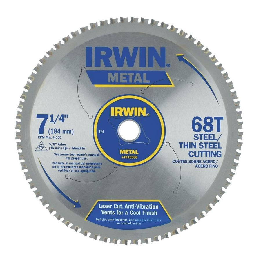 IRWIN 7-1/4-in 68-Tooth Standard Tooth Carbide Circular Saw Blade