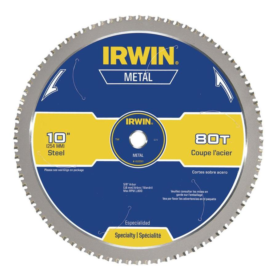 IRWIN 10-in 80-Tooth Standard Carbide Circular Saw Blade