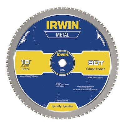 IRWIN 10-in 80-Tooth Carbide Circular Saw Blade at Lowes com