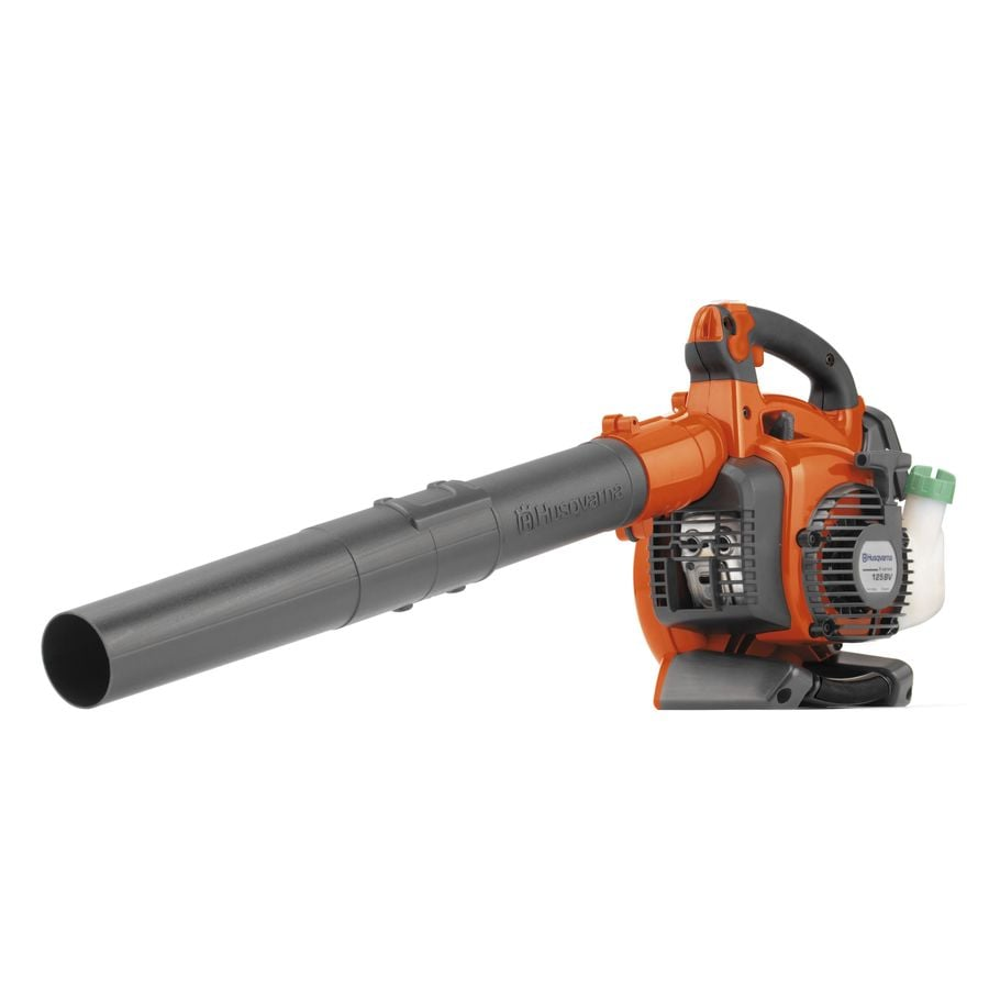 Husqvarna 125BVx 28-cu cm 2-cycle 170-MPH 470-CFM Heavy-Duty Handheld Gas Leaf Blower with Vacuum Kit