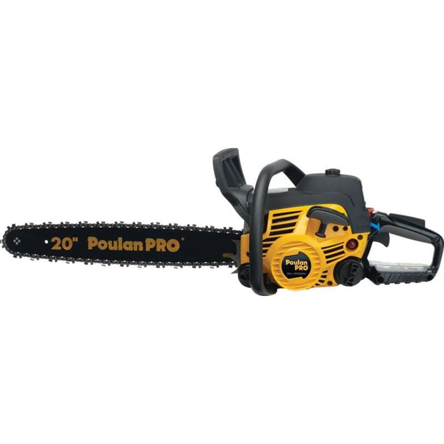Poulan Pro 50cc 2-Cycle 20-in Gas Chainsaw with Case