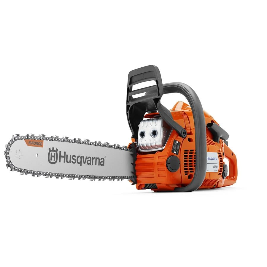 Husqvarna 450 Rancher 20 In 50 2 Cc 2 Cycle Gas Chainsaw In The Gas Chainsaws Department At Lowes Com