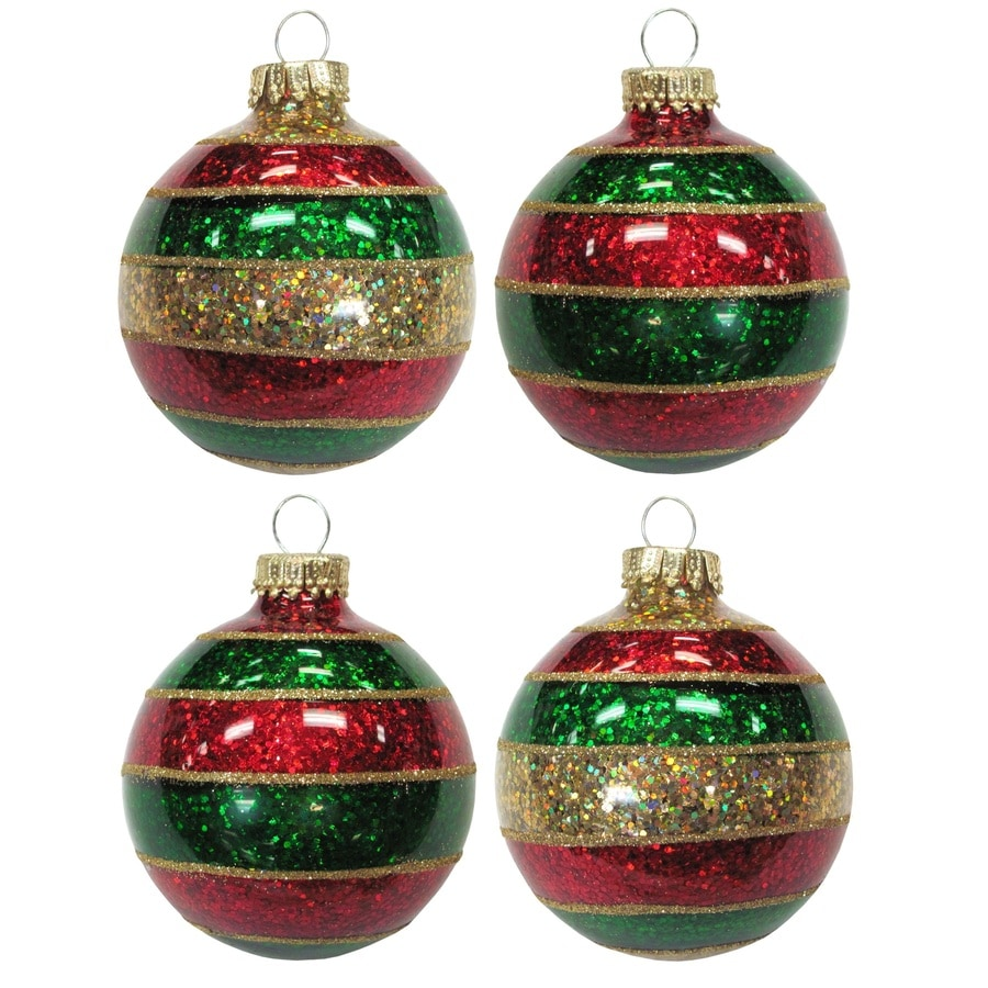 Holiday Living Red/Green/Gold Ornament Set Lights
