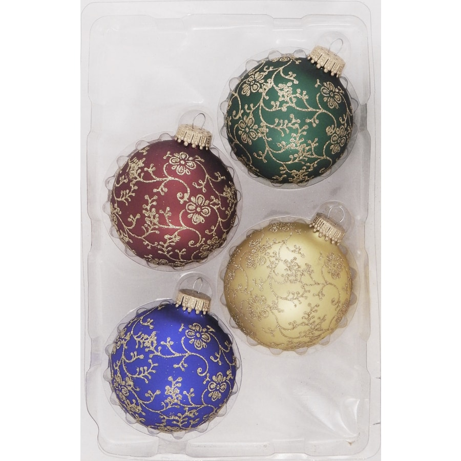 Holiday Living 4-Pack Multiple Colors and Shiny Spiral Ornament Set