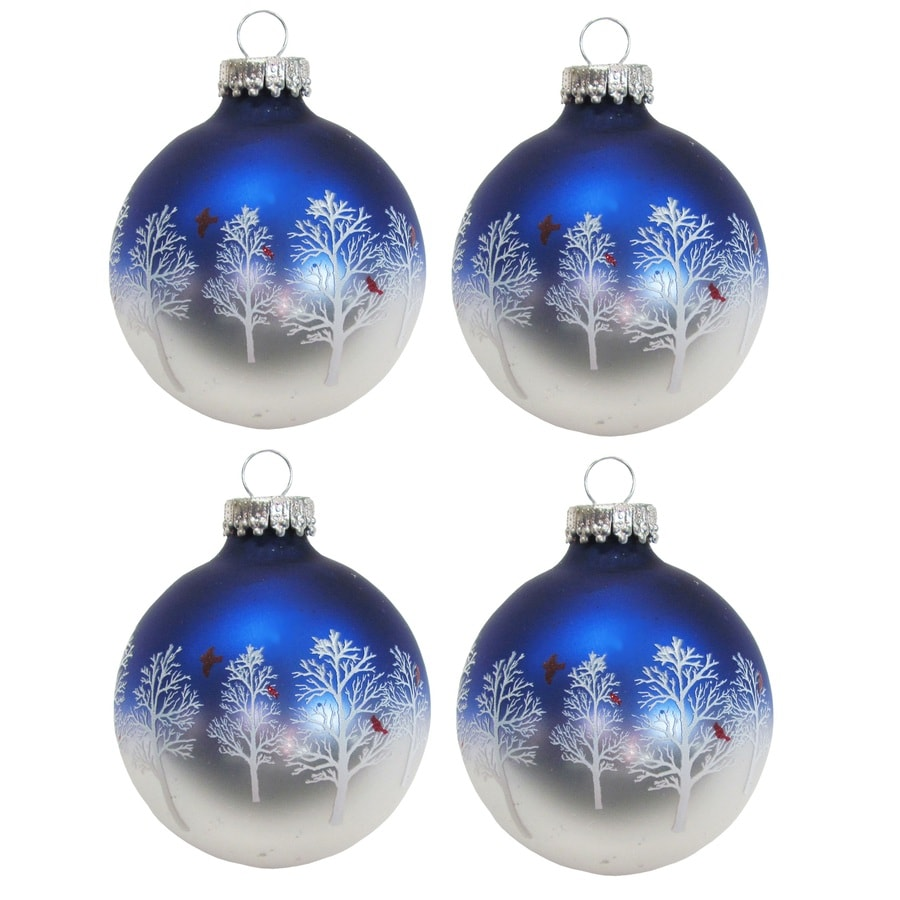 Holiday Living Blue/Silver Ornament Set Lights