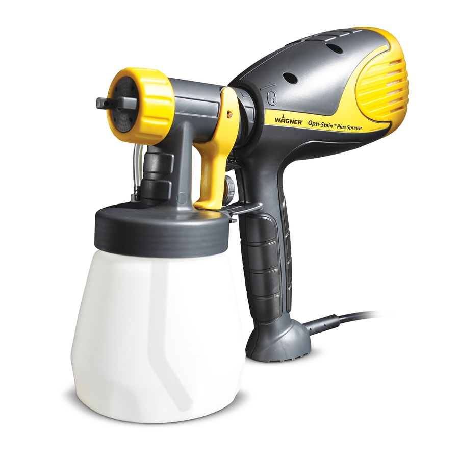 Shop wagner opti stain plus handheld hvlp paint sprayer at for Air or airless paint sprayer