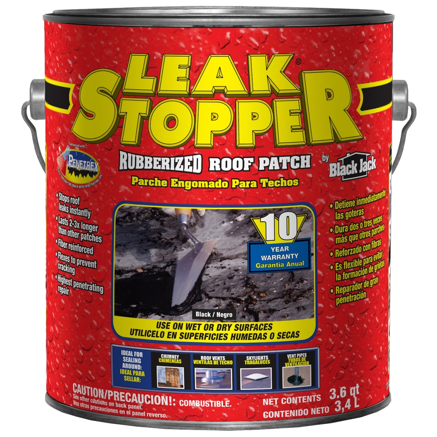 LEAK STOPPER 3.6-Quart Fibered Waterproofer Cement Roof Sealant