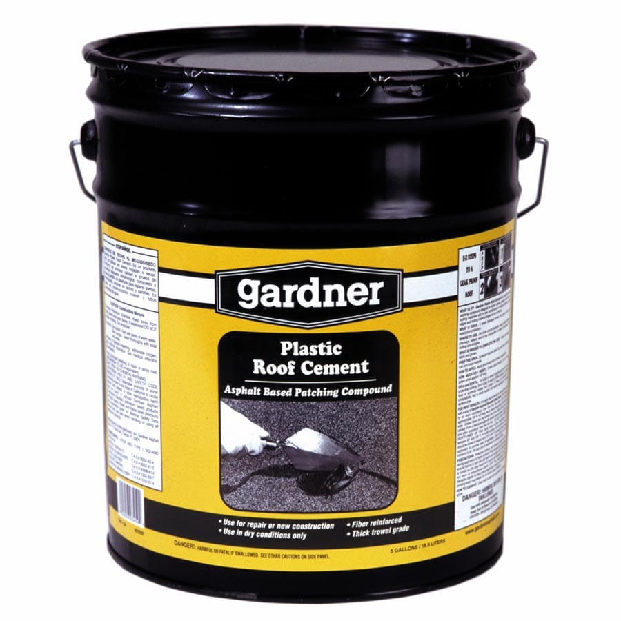 Gardner 4.75 Gallon Fibered Waterproof Cement Roof Sealant