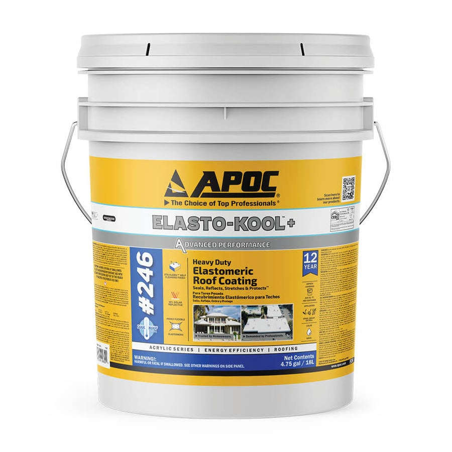 Apoc Kool Armor 4 75 Gallon Elastomeric Reflective Roof
