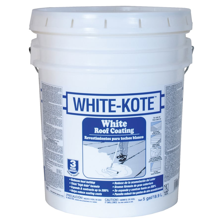 WHITE-KOTE 5-Gallon Elastomeric Reflective Roof Coating (3-Year Limited Warranty)