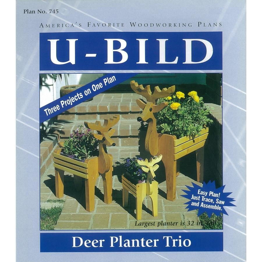U-Bild Deer Planter Trio Woodworking Plan