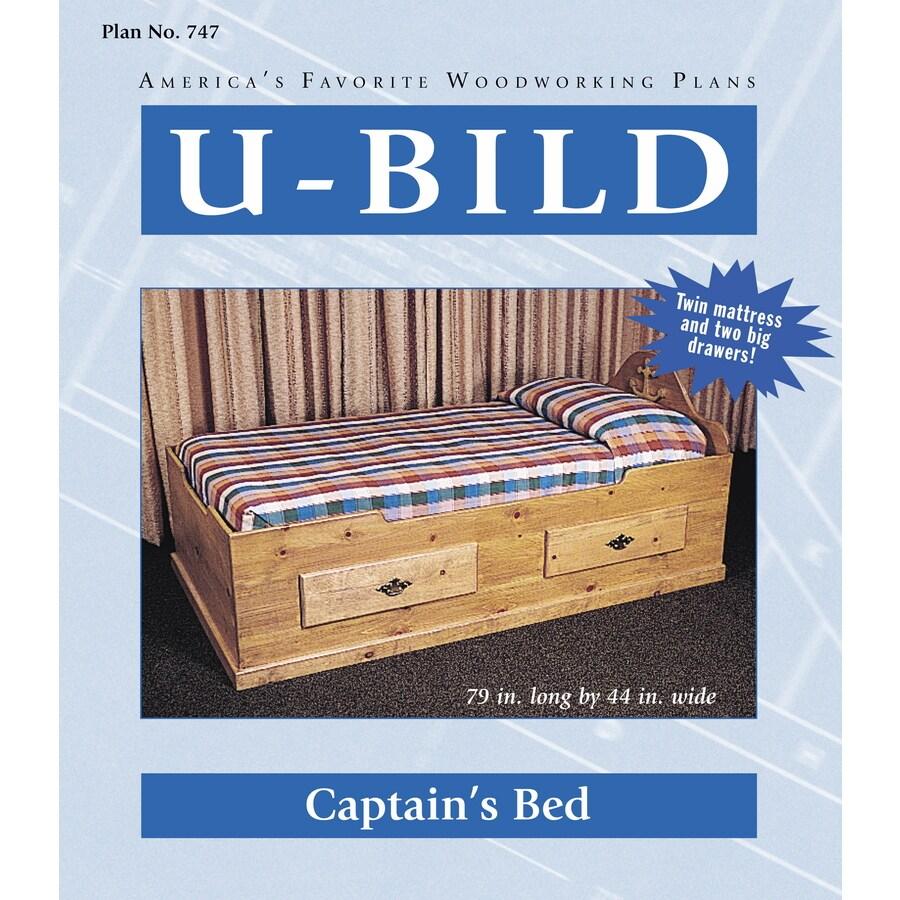Captains bed woodworking plans - U Bild Captain S Bed Woodworking Plan